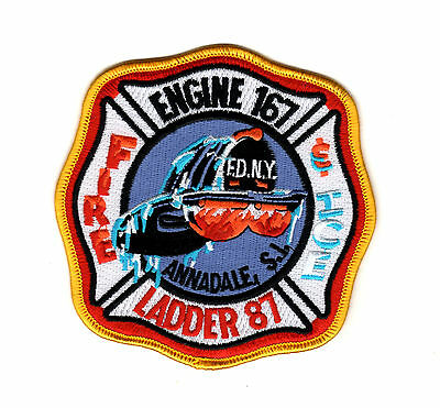 FDNY Fire Company Patch Engine 167 Ladder87