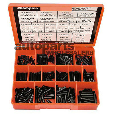 CHAMPION METRIC ROLL PINS SMALL SIZES ASSORTMENT KIT (360 Pieces)
