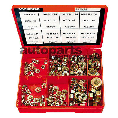 CHAMPION KIT FLANGE NUTS METRIC ASSORTMENT (140 Pieces)