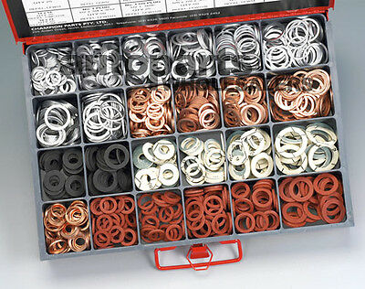 CHAMPION MASTER KIT DRAIN SUMP PLUG WASHERS ASSORTMENT (1015 Pieces)