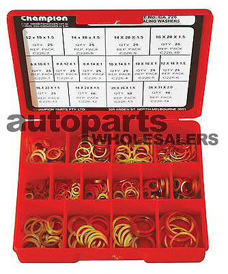 CHAMPION FUEL INJECTION EFI COPPER WASHERS METRIC ASSORTMENT KIT (305 Pieces)