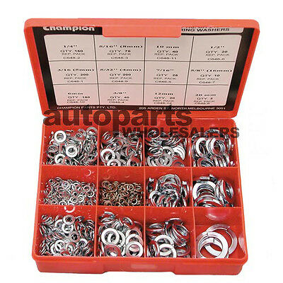 CHAMPION SPRING WASHERS METRIC & IMPERIAL ASSORTMENT KIT (933 Pieces)