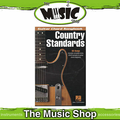 New Guitar Chord Songbook Country Standards - Chords & Lyrics Music Book