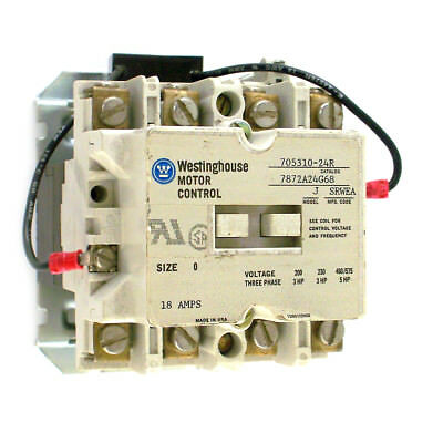 Westinghouse Size 0 Motor Control Contactor 705310-24R