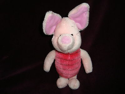 "Disney Pooh 100 Acre Collection PIGLET Plush & Beans PIGLET 10"" tall"