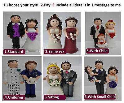 Personalised Bride and Groom Wedding Cake Toppers Long Lasting Topper
