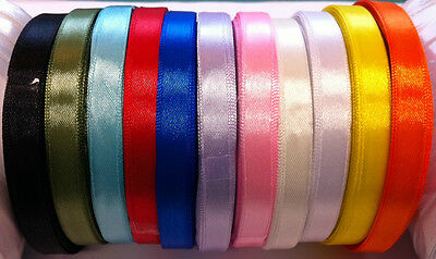 3 metres of Beautiful SATIN RIBBON - 10mm width - Many Colours