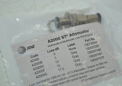 AT&T A2000 ST Series Fiber Optic Attenuator - 5 dB Part# 106597297 Model# A2000B