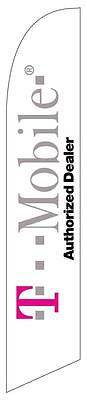 T-mobile Authorized Dealer Feather Banner Swooper Flag - FLAG ONLY -