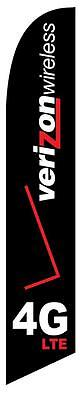 Verizon 4GLTE  Feather Banner Swooper Flag - FLAG ONLY -
