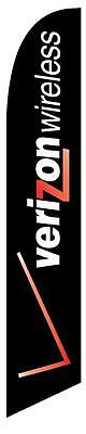 Black Verizon Wireless Feather Banner Swooper Flag - FLAG ONLY -