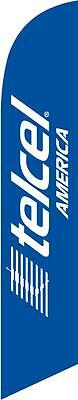 Telcel America Feather Banner Swooper Flag - FLAG ONLY