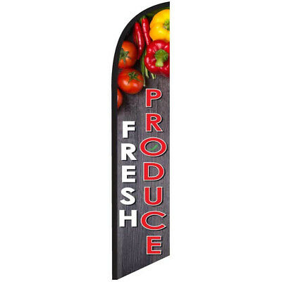 Fresh Produce 12ft Feather Banner Swooper Flag - FLAG ONLY