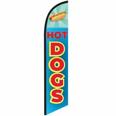 Hot Dogs 12ft Feather Banner Swooper Flag - FLAG ONLY