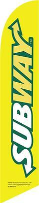 Subway 12ft Feather Banner Swooper Flag - FLAG ONLY