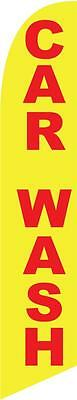 Car Wash (yellow and red) 12ft Feather Banner Swooper Flag - FLAG ONLY