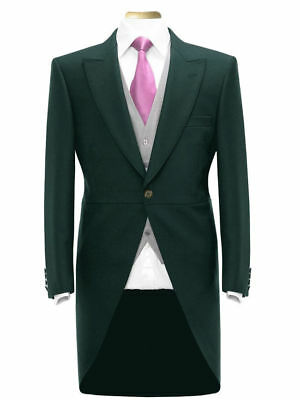 Mens Boys Tail Coat Green Tailcoat Tails Wedding Morning Suit English Irish Wear