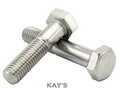 M10(10mmØ) A2 STAINLESS STEEL PART THREADED HEXAGON BOLTS HEX SCREWS, KAYS