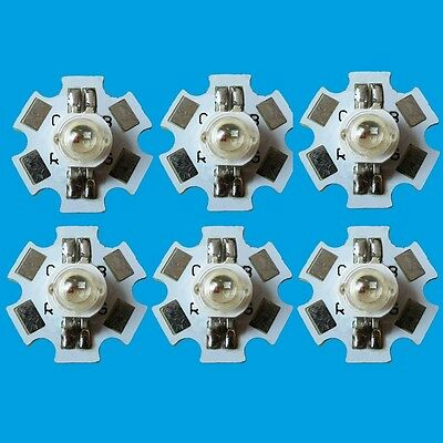 10 PCS 3W RGB Color High Power LED Light Emitter 4 pins with 20mm Star Base