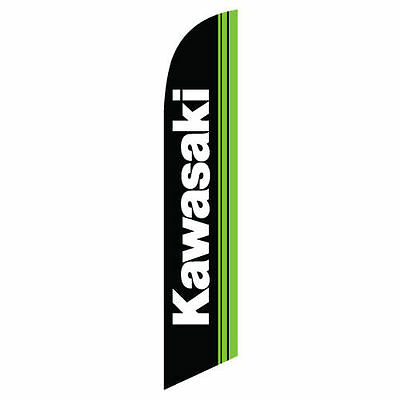 Kawasaki 12ft Feather Banner Swooper Flag - FLAG ONLY