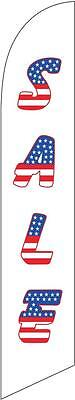 Sale (american letters) 12ft Feather Banner Swooper Flag - FLAG ONLY