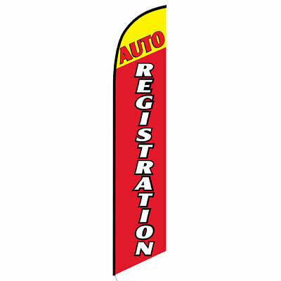 Auto Registration (car) 12ft Feather Banner Swooper Flag - FLAG ONLY