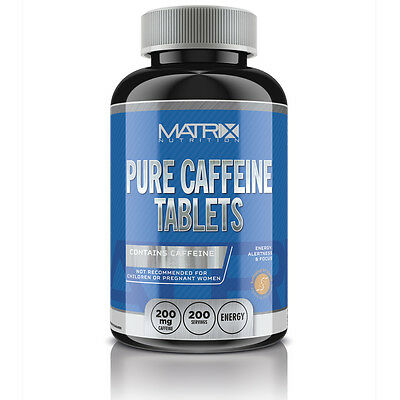 Pre-Workout Caffeine Tablets - Energy Boost Matrix Nutrition 200Ct