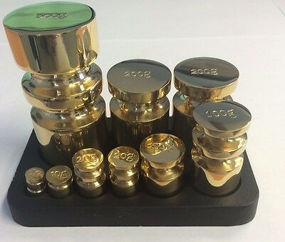 9 Piece Victor Brass Metric Weights Weight Set with Stand