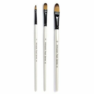 Artmaster Pearl Artist Watercolour FILBERT Paint Brush Assorted Sizes Available