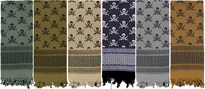 Skulls Shemagh Heavyweight Arab Tactical Desert Keffiyeh Scarf
