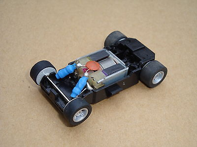 Mint Scalextric Motor With Chassis/guide And Wheels For Micro Cars