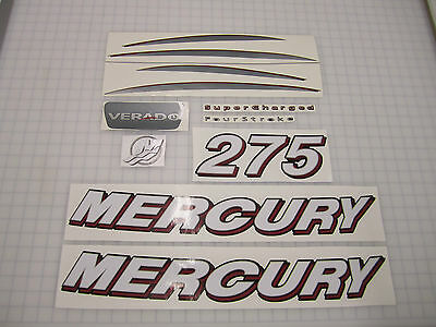 Mercury VERADO outboard decal set 275 hp, complete kit  (Avail in other HP's)
