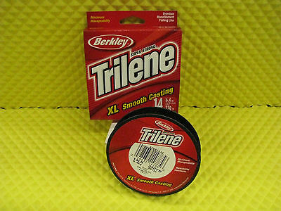 BERKLEY TRILENE XL 14 lb 330 yd FISHING LINE LOW-VIS GREEN #XLVS14-22