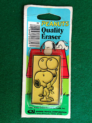 SNOOPY PEANUTS gomma vintage 80s , EMPIRE PENCIL CORP. eraser rubber gommina