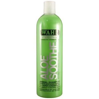 Wahl Aloe Soothe Shampoo 500ml - All Natural Ingredients - Horse Pony Grooming