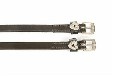 HyCLASS Diamante Spur Straps Heart - Superior Quality Leather