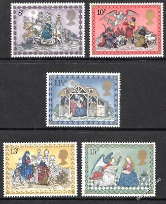 GB 1979 Christmas SG1104-8 Complete Set Unmounted Mint