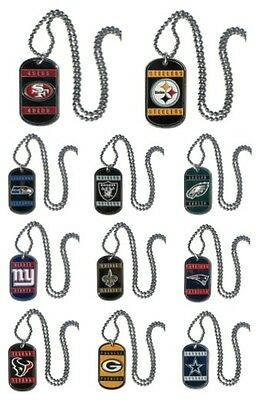 NFL DOG TAGS NECKLACES ALL NFC TEAMS metal engraveable on the back NEW ENAMEL