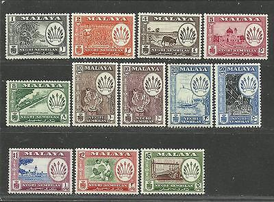 Malaya 1957-63 : Negri Sembilan 1957 MNH 12V Mainly VF (Other states available)