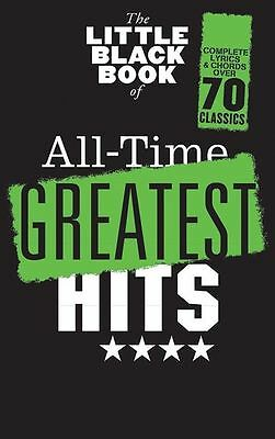 Little Black Book Of All-Time Greatest Chart Hits Guitar Chords POP Music Book