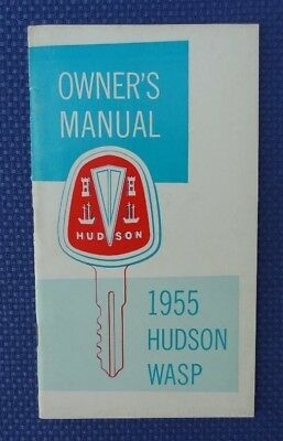 1955 HUDSON Wasp Automobile Glovebox Owners Manual
