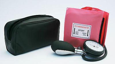 Pink Aneroid Blood Pressure Monitor - Sphygmomanometer Adult Cuff
