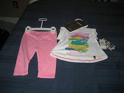 Girls Hurley T Shirt And Leggings Set Size 6/9 Month  Nwt