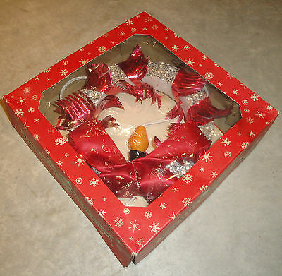 Vintage RINGALITE DECORATION Christmas/Holiday WREATH in Box