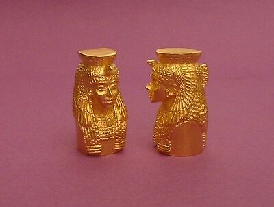 Queen Cleopatra Thimble 22ct Gold Plated Egyptian Historical Collectible Thimble