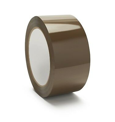 "Hotmelt Tan Box Packing Tape 2"" x 110 Yards 2.5 Mil 72 Rolls (2 Cases)"
