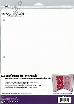 Crafter's Companion EZ Mount Rubber Stamp Storage Panels Stamp N Stor