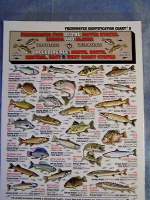 FRESHWATER FISH Identification ID Chart - Tightline Tightlines Publications #8