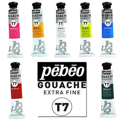 Pebeo T7 Extra Fine Artist Gouache Watercolour Paint 20ml 40 Colours Available