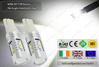 2x LED CanBus No Error T10 501 W5W Cree Lights HID Parking Lights Side Bulbs 12V
